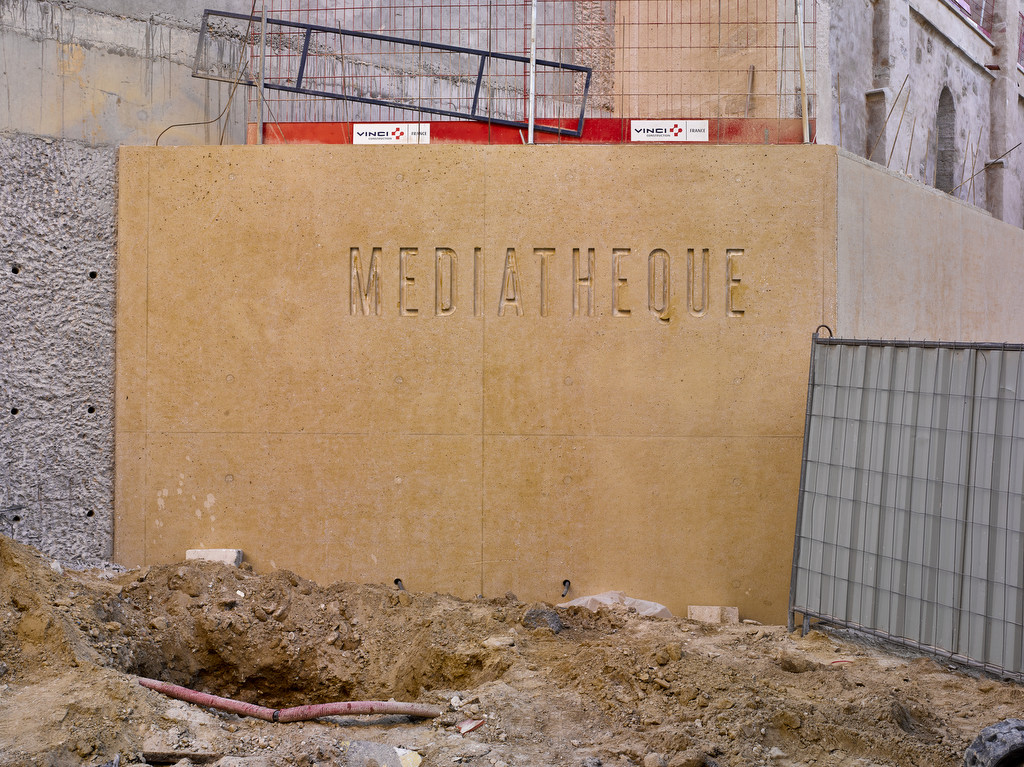 médiathèque de Pertuis in progress